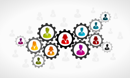 Teamwork concept Stock Illustratie