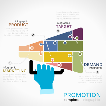sales promotion: Promotions infographics Illustration