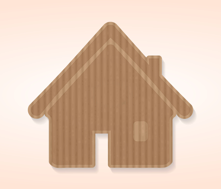 House icon cut out from a cardboard sheet Vector