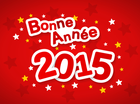 bonne: Bonne Annee meaning Happy New Year 2015 greeting in French language Illustration