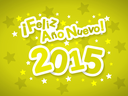 ano: Feliz Ano Nuevo meaning Happy New Year 2015 greeting in Spanish language