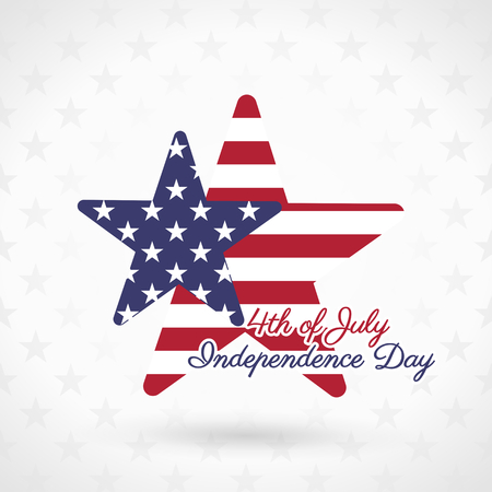 4th of July illustration, American Independence Day celebration Vector