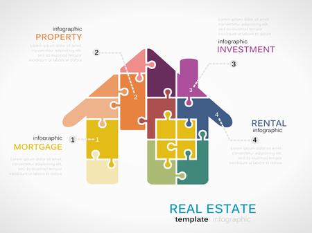 bienes raices: Infograf�a inmobiliarias Vectores