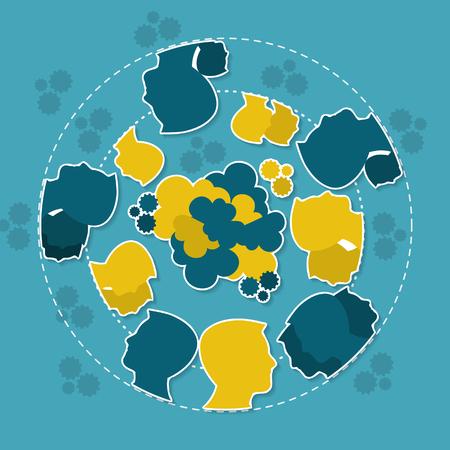 deliberation: Debate concept illustration