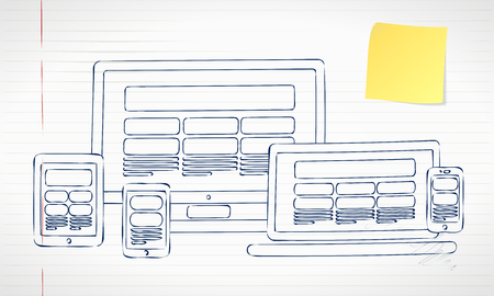 responsive web design: Responsive web design Illustration