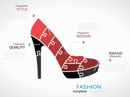 Fashion Template With High Heels Shoes Symbol Royalty Free Cliparts ...