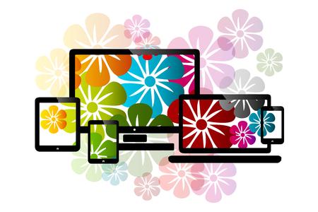 Web themes design Vector