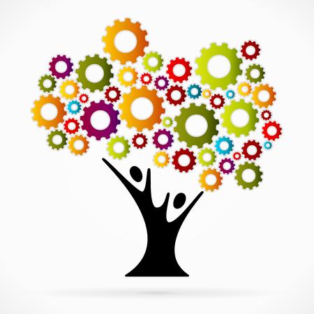 seeding: Gear tree Illustration