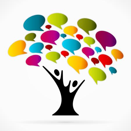 kommunikation: Kommunikation träd Illustration