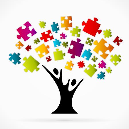 Puzzle árbol Foto de archivo - 32278967
