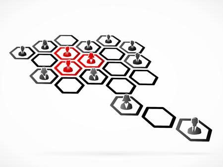 Customer segmentation concept illustration Vettoriali