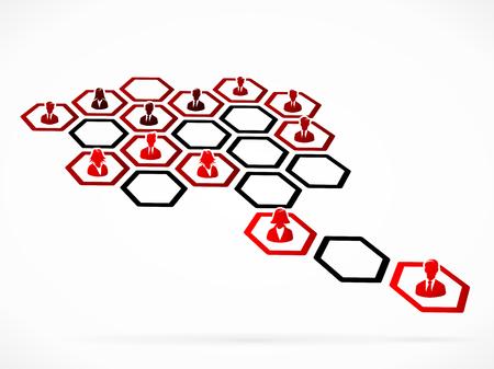functional: Functional organization concept illustration
