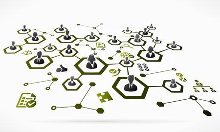 ビジネス人々 のネットワーク。抽象的なベクトル図