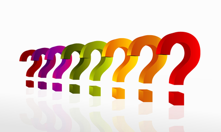 Questions concept illustration. Abstract vector illustration with raw of question marks 일러스트
