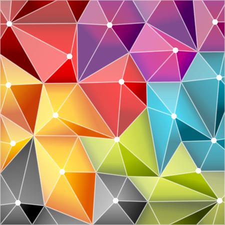 diamond shape: Abstract illustration with square diamond geometrical shape Illustration