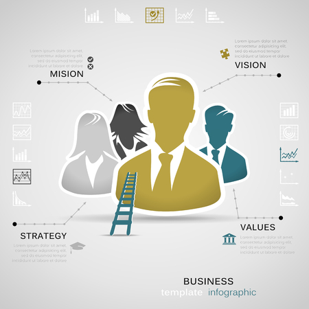 vision mission: Business infographic
