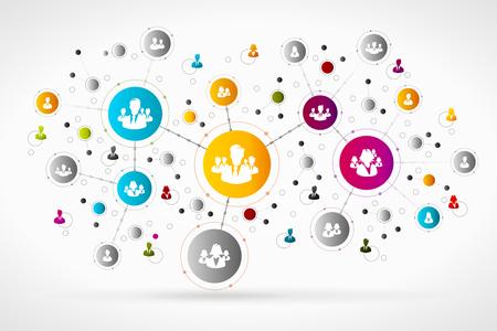 red de personas: Las personas de negocios de la red