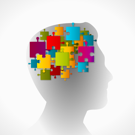 creativeness: Puzzle mind Illustration