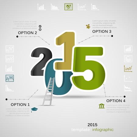 inforgraphic: 2015 presentation inforgraphic . Vector illustration