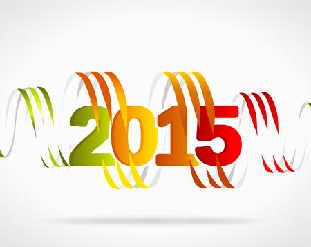 hump: 2015 illustrazione vettoriale colorato. Nastri astratti intrecciati
