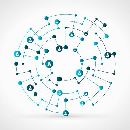 Resumen ilustración de la red azul red de negocios Foto de archivo - 35754267