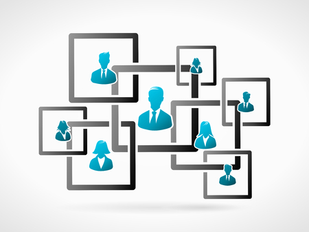 Business organization structure. Human people icon silhouette