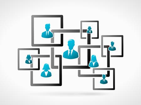 Estructura de la organización empresarial. Gente Humanos icono silueta Foto de archivo - 35891673