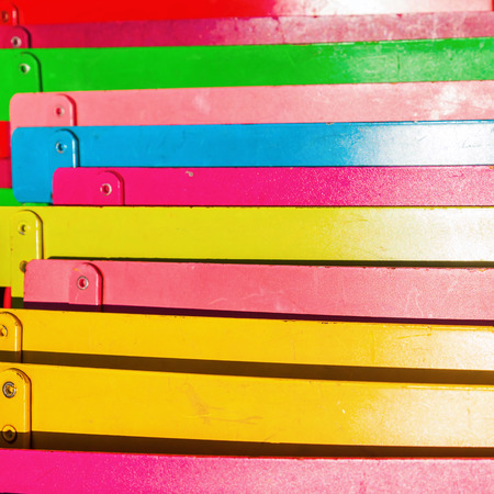 fold back: colorful backrests of folding chairs