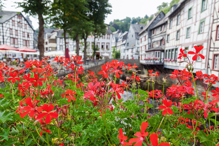 picturesque: picturesque village Monschau in Germany Stock Photo