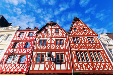 half  timbered: old half timbered houses in Trier, Germany