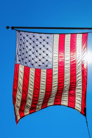 US flag in backlit Reklamní fotografie