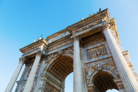 arc: triumphal arc in Milan Italy