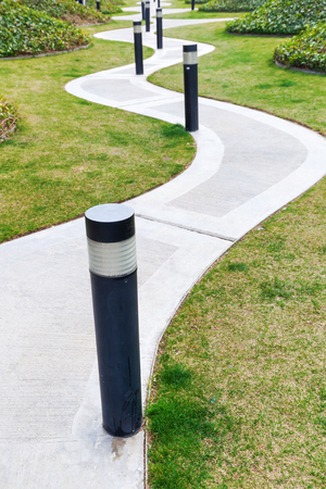 footpath: Winding footpath Stock Photo