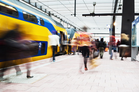 at the station in Rotterdam, Netherlands
