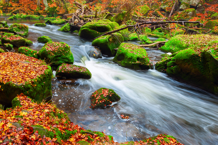uplands: Irrel Cascades at the river Prm Eifel, Germany