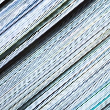 reading materials: Pile of magazines