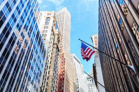 broad: Broad Street in Manhattan, NYC Stock Photo