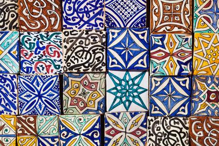 marocco: collection of Moroccon wall tiles