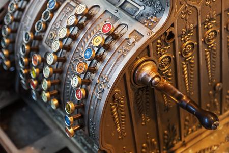 analogous: antique cash register