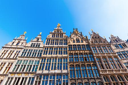 historic guildhalls in Antwerp, Belgium