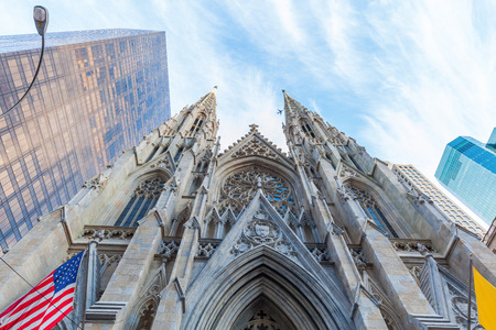 downtown manhattan: St. Patricks Cathedral in downtown Manhattan, New York City