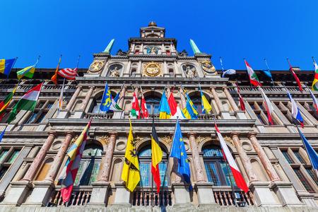 antwerp: historical city hall in Antwerp, Belgium Stock Photo