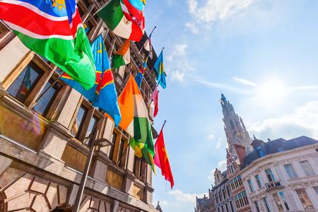 antwerp: historic city hall in Antwerp, Belgium Stock Photo