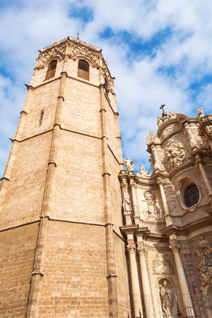 valencia: belltower of the Valencia Cathedral in Valencia, Spain