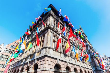 antwerp: historic city hall in Antwerp, Belgium Editorial