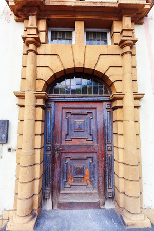 historical building: door of a historical building in Trier, Germany