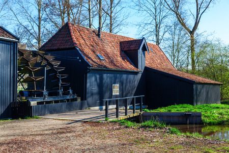 Watermill at Kollen nearby Nuenen, The Netherlands, where Van Gogh lived, he painted also this historic mill Zdjęcie Seryjne