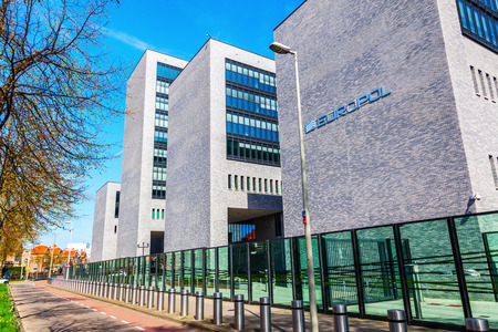 The Hague, Netherlands - April 21, 2016: Europol headquarter in The Hague. It is the European Police department, that has to coordinate the work of the national police in case of organized crime.