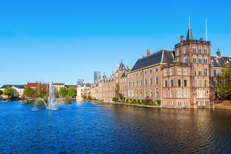 Binnenhof with the Hofvijver in The Hague, Netherlands