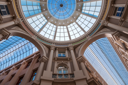 glass roof of the shopping arcade Passage in The Hague, Netherlands